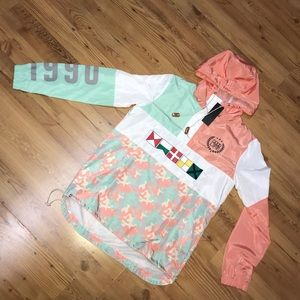 Good life Camo Pastel Windbreaker NWT